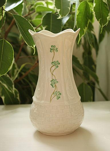 Belleek Shamrock Kells Vase