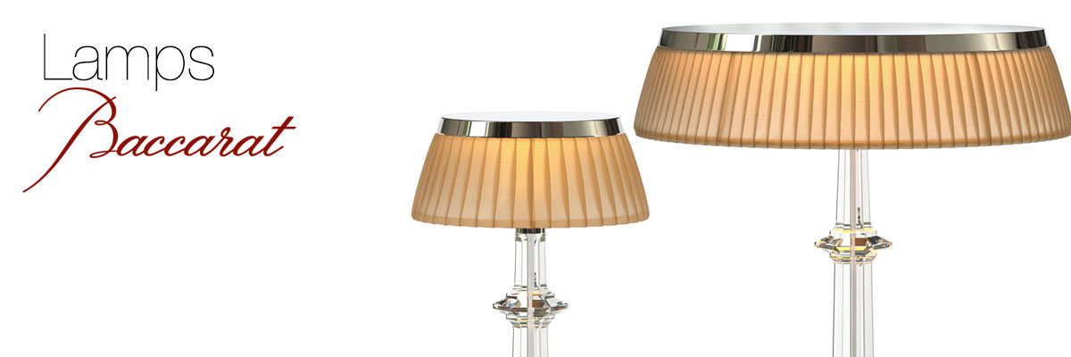Baccarat lamp collection crystal classics