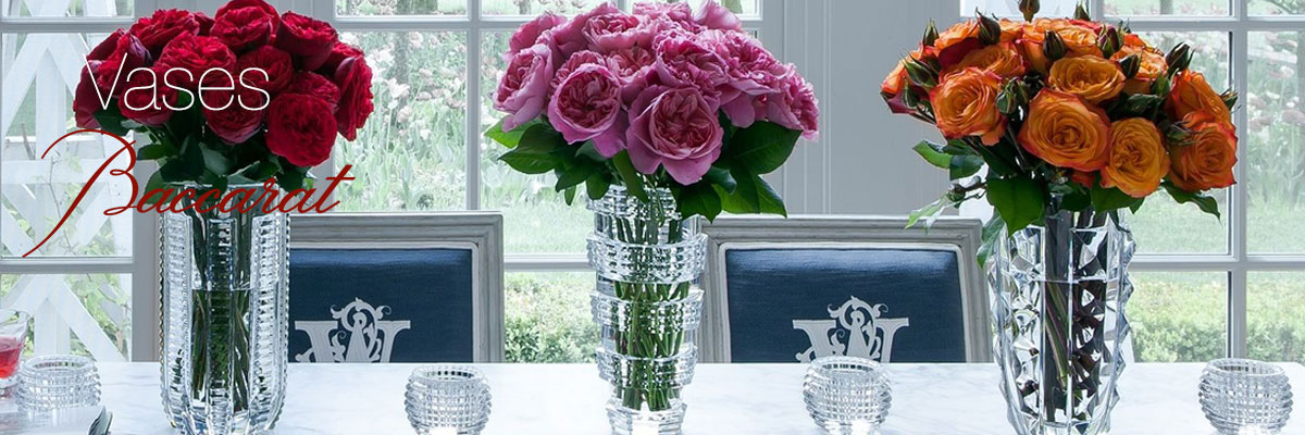 Baccarat Vase Collection Crystal Classics