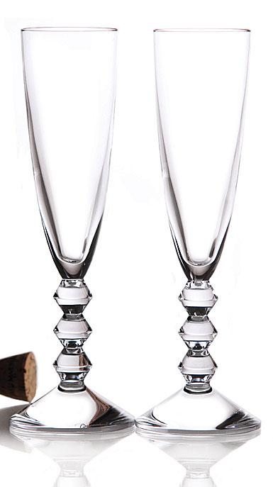 Baccarat Vega Champagne Flute, Pair