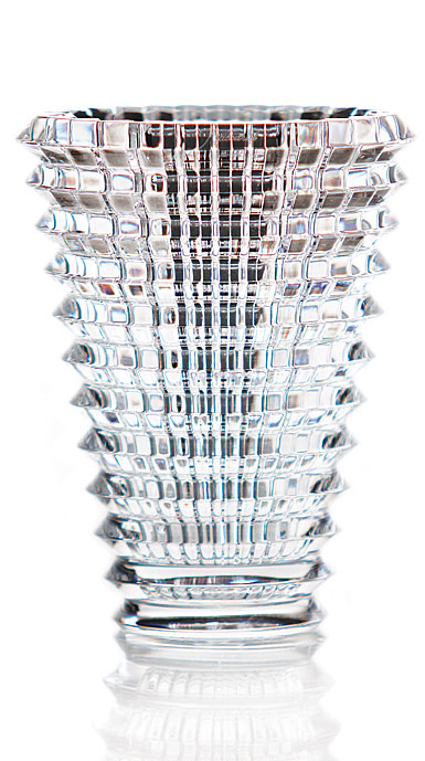 "Baccarat Crystal, Eye Oval 9 1/4"" Vase, Clear"