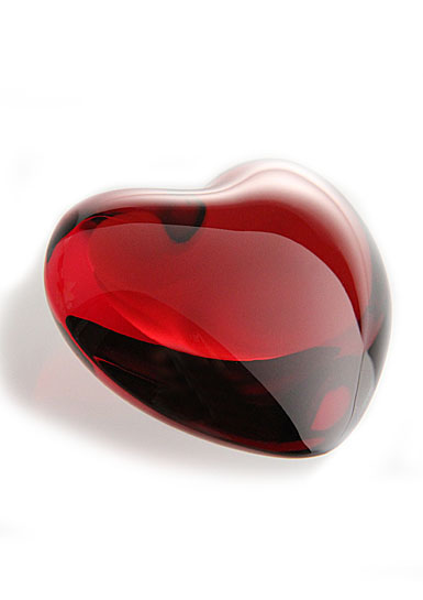 Baccarat Puffed Cupid Heart, Ruby