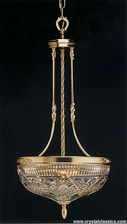 """Waterford Beaumont Large Light Fixture, Gold Plated, 32"""""""