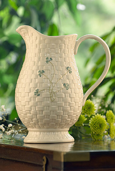 Belleek Shamrock Kylemore Pitcher
