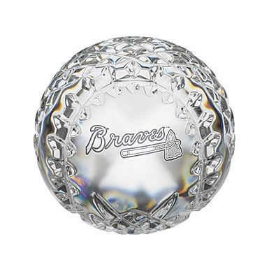 Waterford Atlanta Braves Crystal Baseball