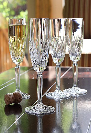 Marquis by Waterford Crystal, Brookside Crystal Flutes, Set of Four