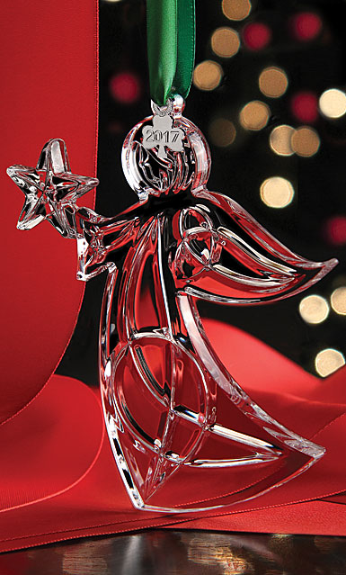 Cashs Ireland, Angel with Star 2017 Crystal Ornament