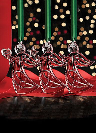Cashs Ireland, 2017 Three Sisters Angel Crystal Ornament Set