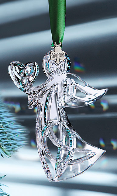 Cashs Ireland, 2019 Angel with Heart Crystal Ornament