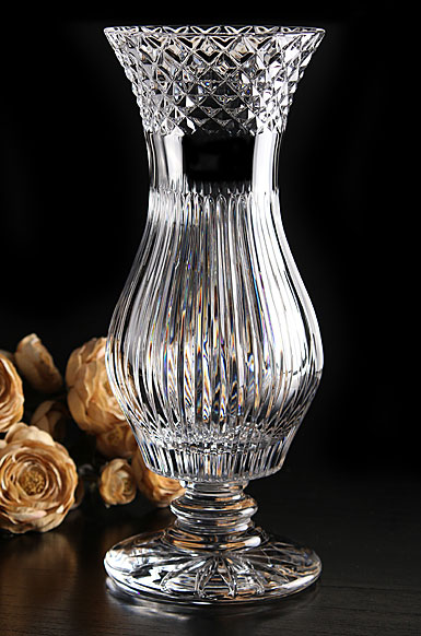 Cashs Ireland, Art Collection Aislinn Footed Crystal Vase, Limited Edition