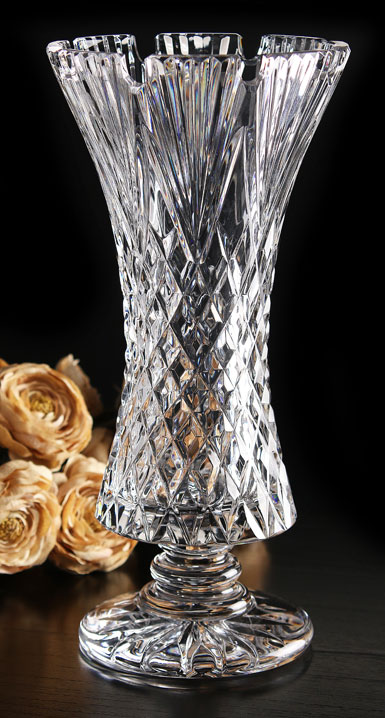 Cashs Ireland, Art Collection Tara Footed Crystal Vase, Limited Edition