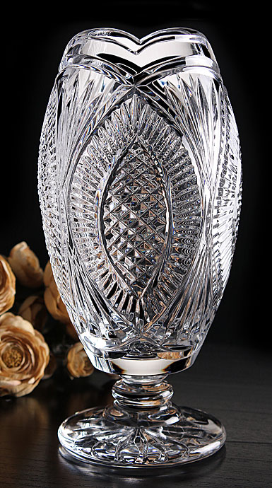 Cashs Ireland, Art Collection Riordan Footed Crystal Vase, Limited Edition