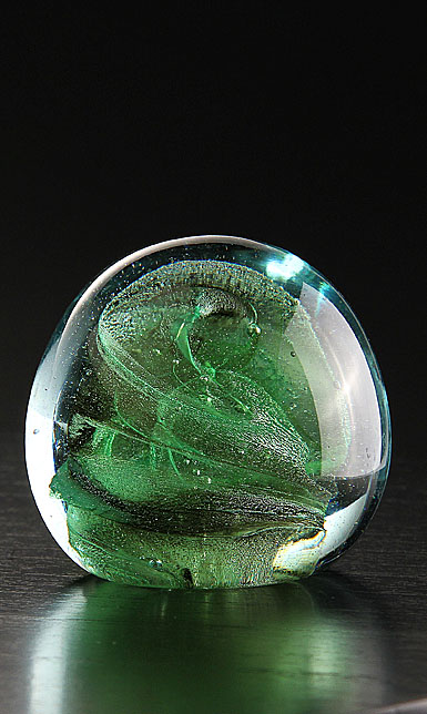 Cashs Ireland, Art Glass Forty Shades of Green, Large Paperweight