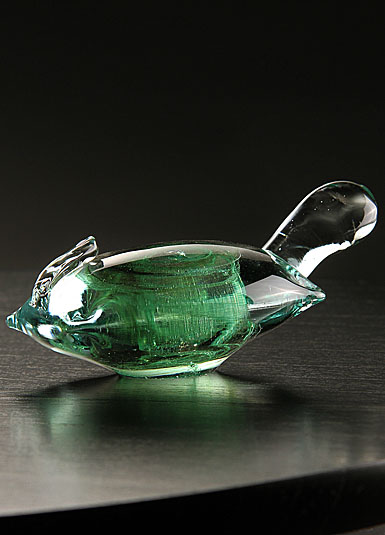 Cashs Ireland, Art Glass Forty Shades of Green, Turtle Paperweight