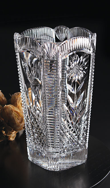Cashs Ireland, Art Collection, Four Seasons Crystal Vase, Limited Edition