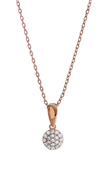 Cashs Ireland, Pave Rose Gold Button Necklace