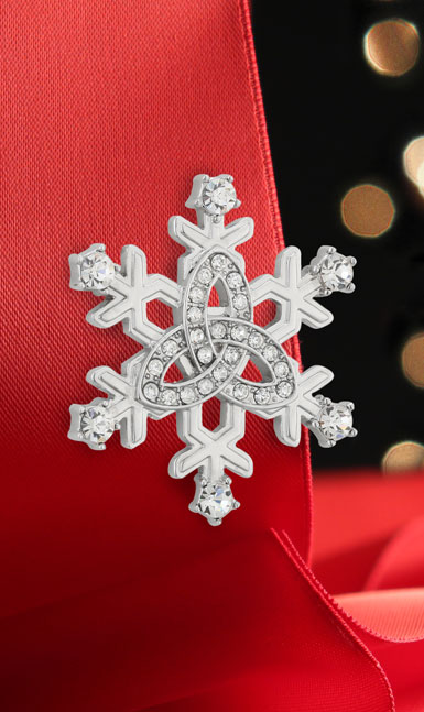 Cashs Ireland, Sterling Silver Snowflake Pin
