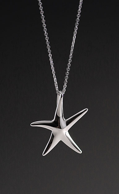 Cashs Ireland, Sterling Silver Starfish Pendant Necklace