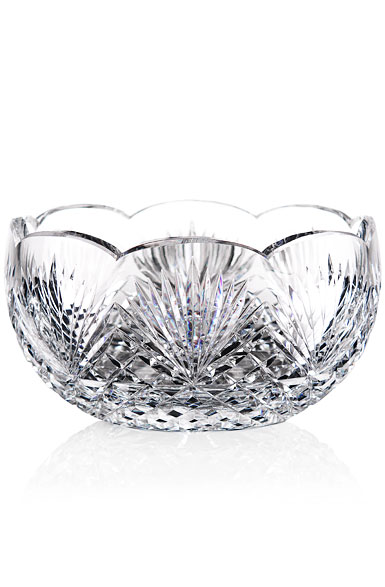 "Cashs Ireland, Art Collection Annestown 9"" Scalloped Crystal Bowl"