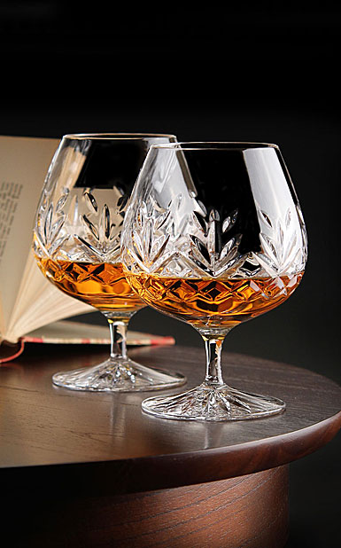 Cashs Ireland, Annestown Large Crystal Brandy Glasses, Pair