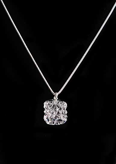Cashs Ireland, Crystal Kerry Bead Pendant Necklace, Sterling Silver Snake Chain, Medium