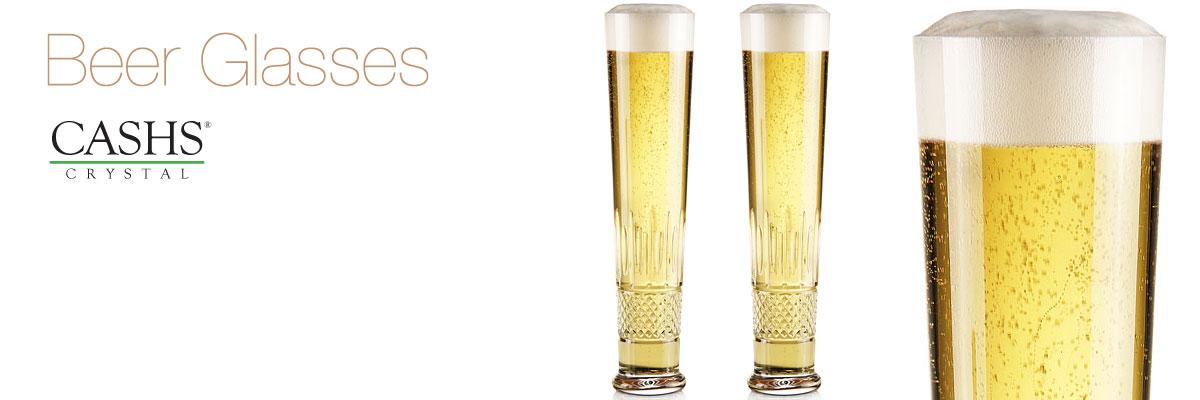 Cashs Crystal Beer Glasses   Cashs of Ireland