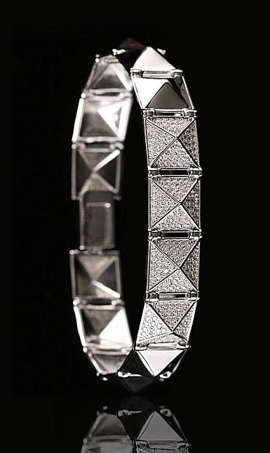 Cashs Sterling Silver Crystal Pave Rock'N'Roll Soft Bracelet