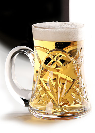 Cashs Crystal Celtic Ring Original Beer Tankard