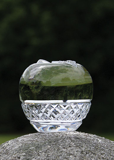 Cashs Ireland, Cooper Large Apple Crystal Paperweight