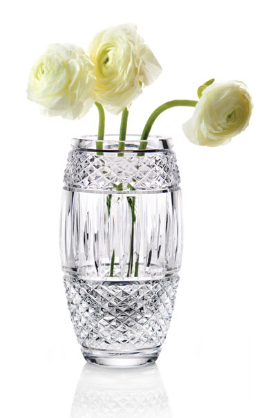 "Cashs Ireland, Crystal Art Collection Cooper Classic 7"" Barrel Vase"