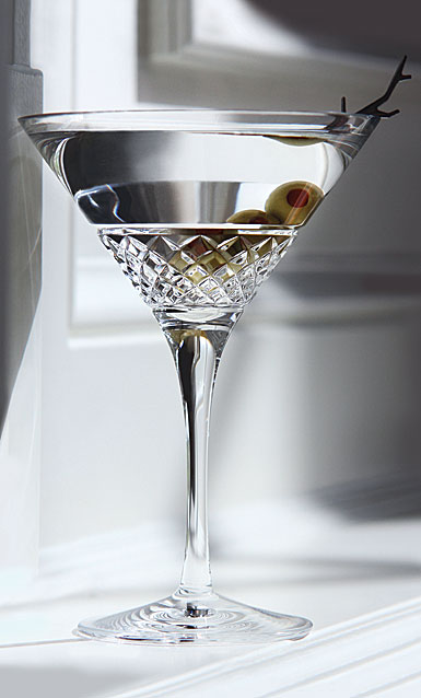 Cashs Crystal Cooper Martini Glasses, Pair