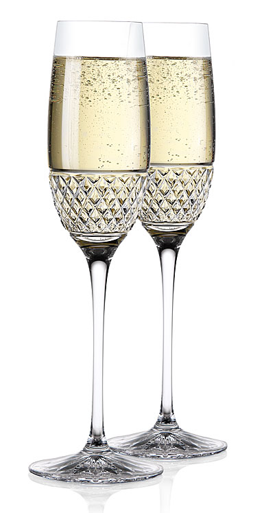 Cashs Ireland, Cooper Celebration Toasting Crystal Flutes, Pair