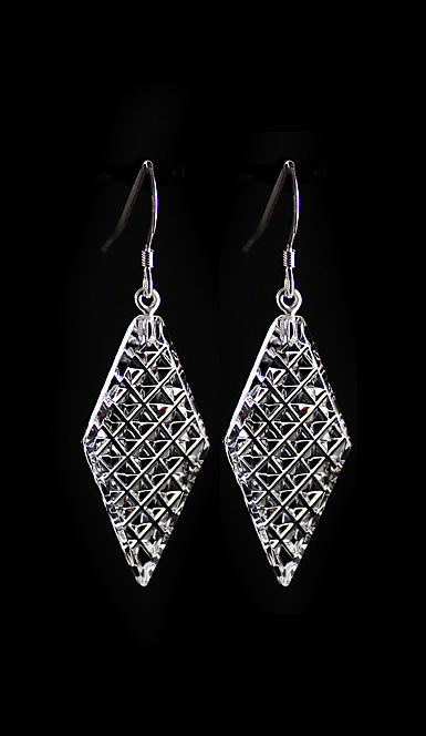 Cashs Ireland, Diamond Kerry, Crystal Drop Earrings, French Hook, Pair