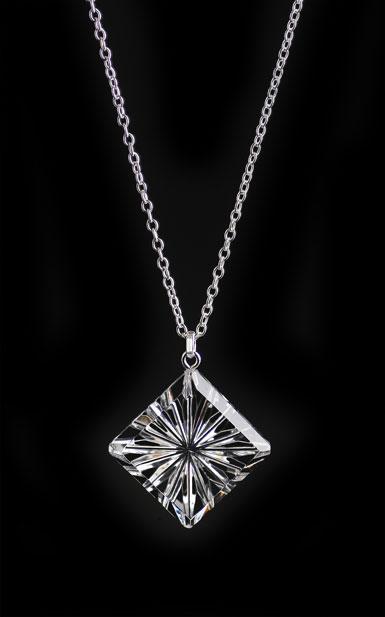 Cashs Ireland, Crystal Diamond Newgrange Pendant Necklace, Medium