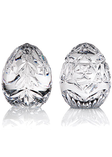 Cashs Ireland, Crystal Christmas Egg Set