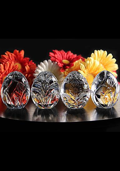 Cashs Ireland, Four Seasons Crystal Egg Set, Limited Edition
