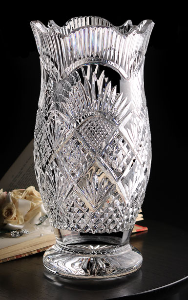"Cashs Ireland, Art Collection, Georgian 12"" Crystal Vase, Limited Edition"
