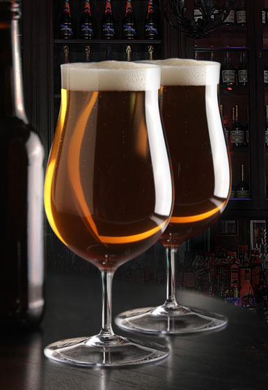 Cashs Ireland, Grand Cru Handmade, Footed Craft Crystal Beer Glasses, Pair