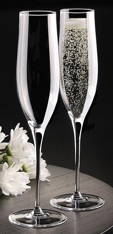 Cashs Ireland, Grand Cru Handmade Vintage Champagne Flutes, Pair