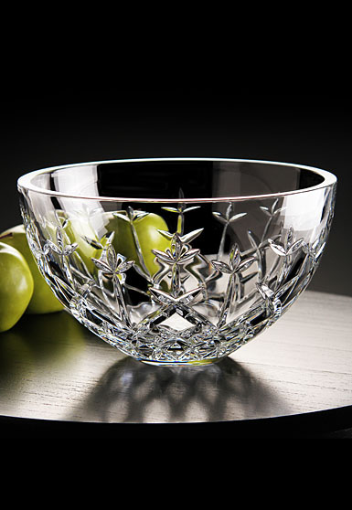 "Cashs Ireland, Hawthorne Fairy 10"" Crystal Bowl"