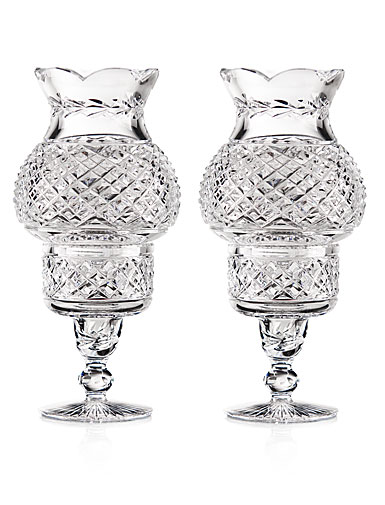 Cashs Ireland, Art Collection Hurricane Crystal Candleholders, Pair, Limited Edition