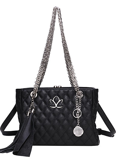 Cashs Ireland, Top Grain Leather Kerry Handbag, Black, Limited Edition
