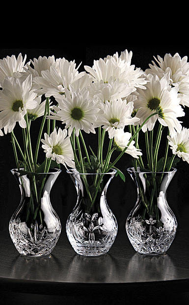 Cashs Ireland, Three Little Sisters, Set of Three Crystal Vases