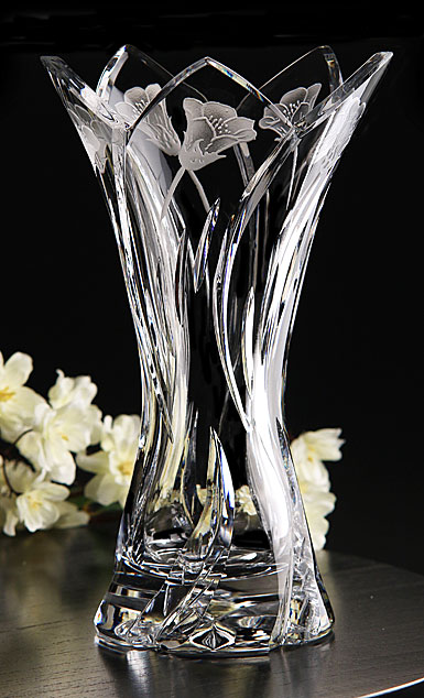 Cashs Ireland, Art Collection Marigold Crystal Vase, Limited Edition