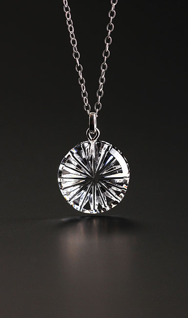Cashs Ireland, Newgrange Circle Pendant Crystal Necklace, Small