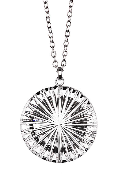 Cashs Ireland, Newgrange Round Pendant Crystal Necklace, Large