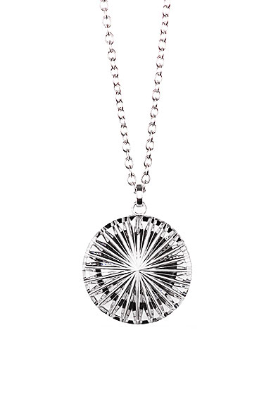 Cashs Ireland, Newgrange Circle Pendant Crystal Necklace, Medium