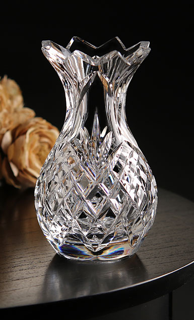 "Cashs Ireland, 6"" Pineapple Crystal Vase"