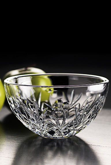 "Cashs Ireland, Lucky Shamrock 6"" Crystal Bowl"