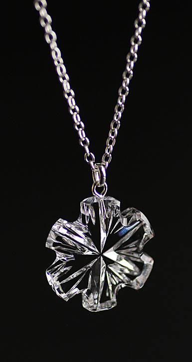 Cashs Ireland, Crystal Snowflake Pendant Necklace, Medium